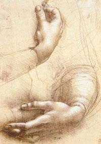 Эскиз женских рук. Леонардо да Винчи